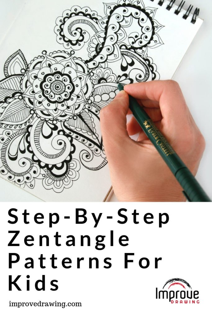 Easy Step By Step Zentangle Patterns For Kids Improve Drawing