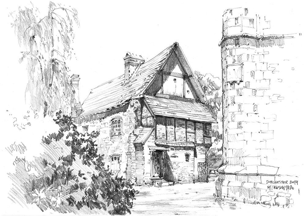 How to Draw Village Scenery with Pencil
