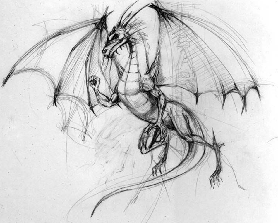 How to Draw a Dragons Wings