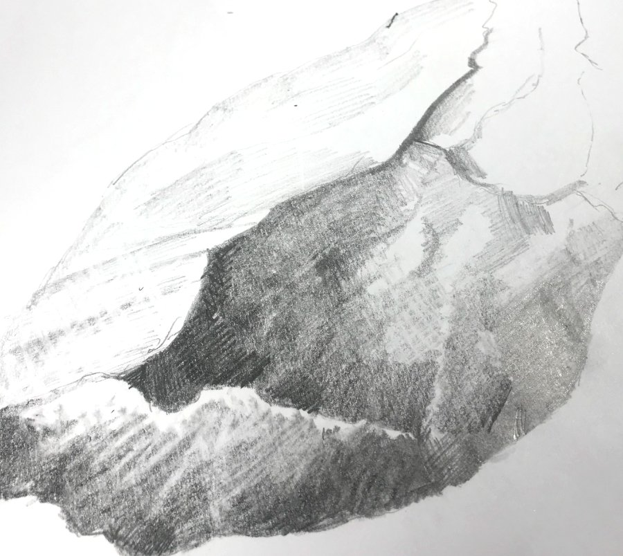 HOW TO DRAW REALISTIC BOULDERS