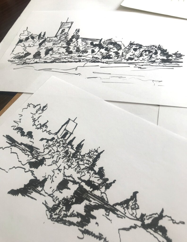 How to Approach to Drawing on Location