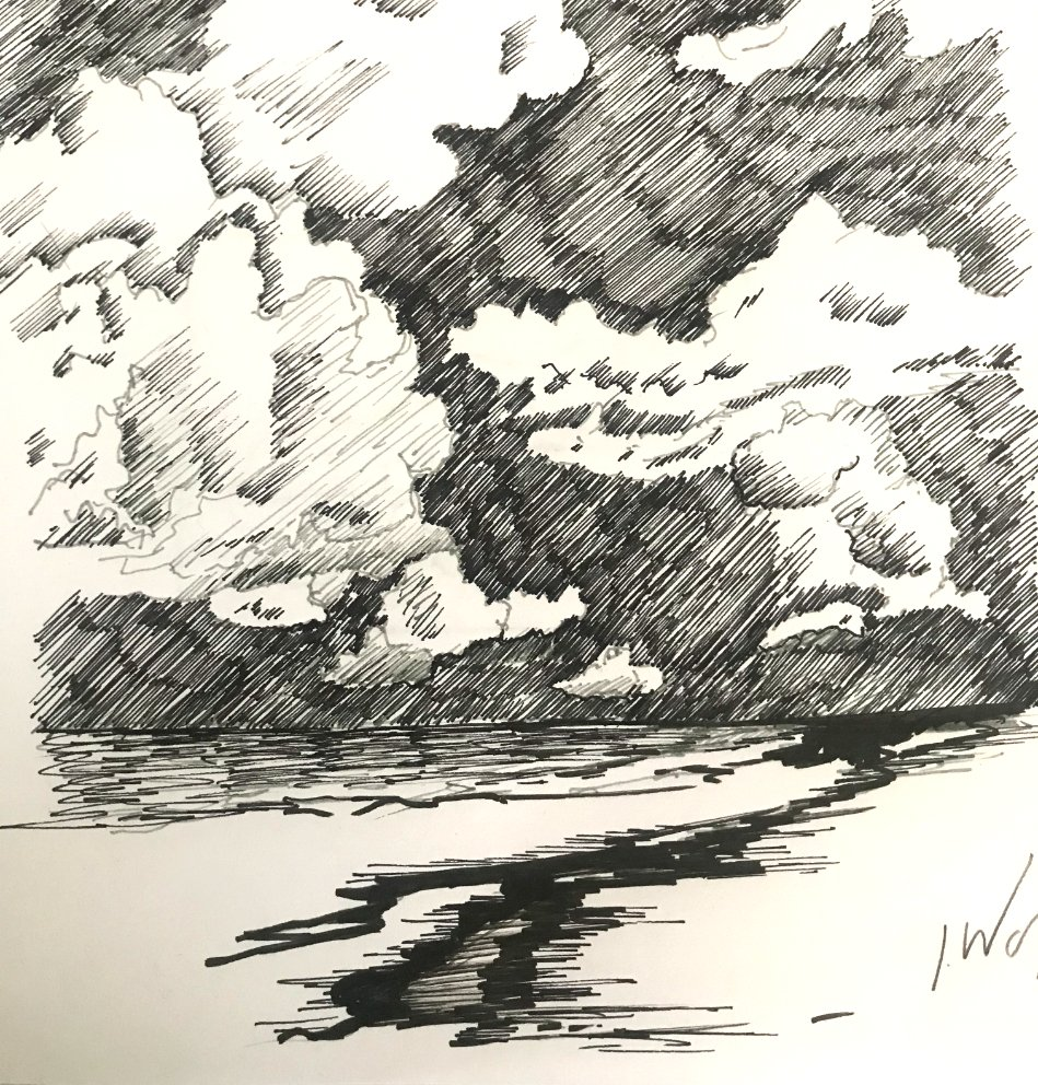 How to Draw Clouds with Pen