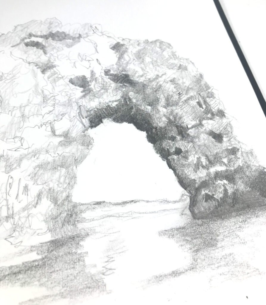 How to Draw Rocks and Cliffs