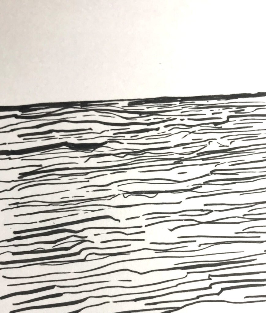 Pen and Ink Drawings of Water
