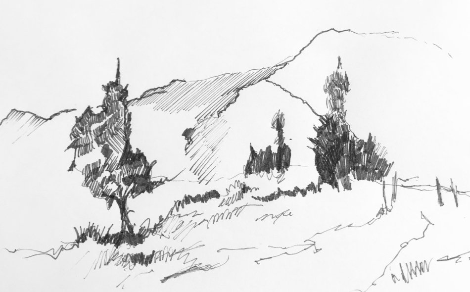 How to Draw a 5 Minute Landscape