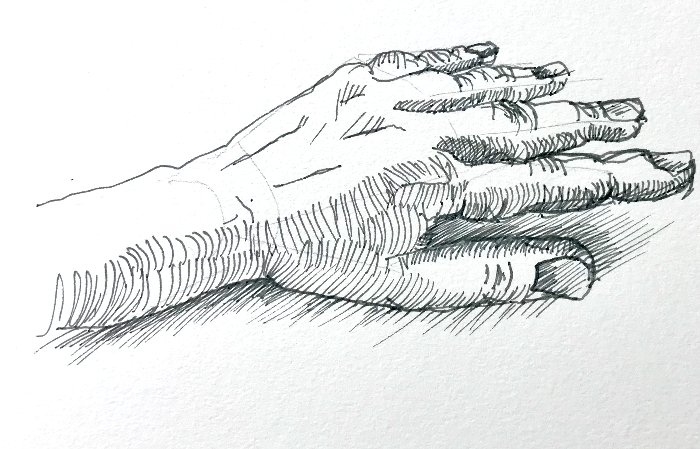 Drawing Hands with Different Techniques