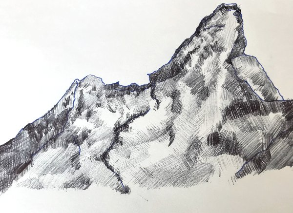 Pen and Ink Mountain