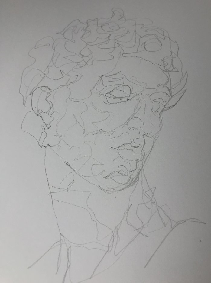 Continuous Line Drawing Head