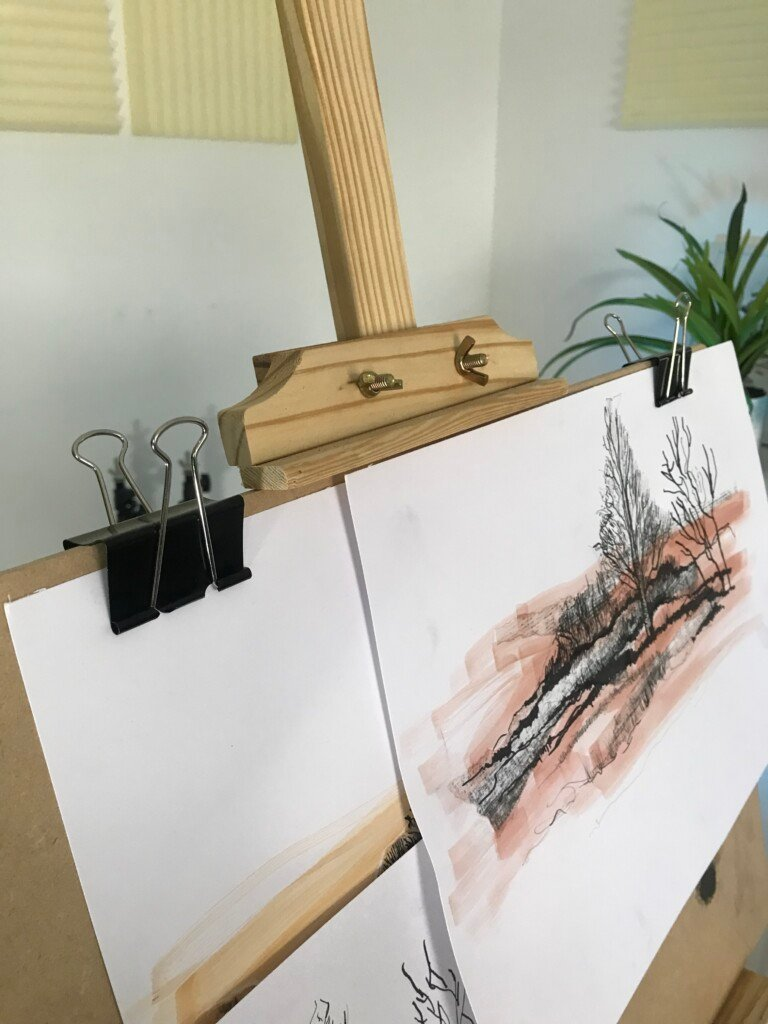Easel and Drawing Board